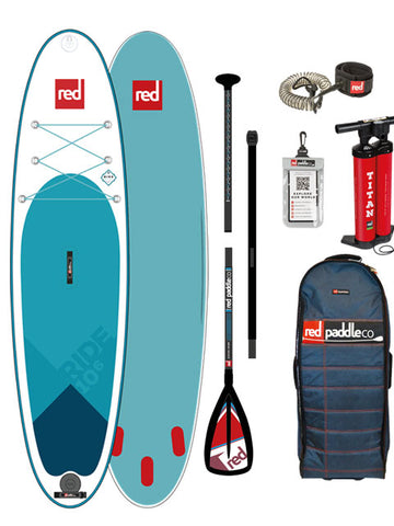 "Red Paddle Co. Ride 10ft 6"" MSL Stand Up Paddleboard Package - 2018"