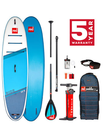 "2021 Red Paddle Co Ride 10'6"" Inflatable SUP Package"