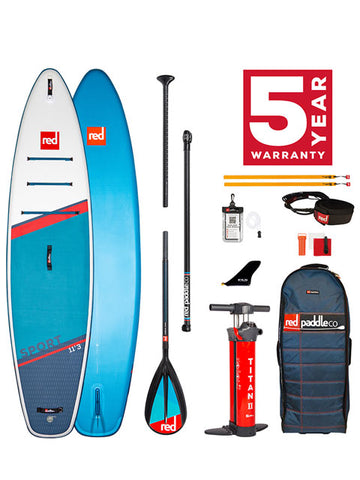 "2021 Red Paddle Co Sport 11'3"" Inflatable SUP Package"