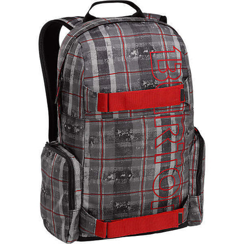 BURTON EMPHASIS BACKPACK - TATTERED PLAID - Boardwise