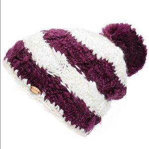 SPACECRAFT ELLA POM BEANIE - WHITE PURPLE - Boardwise