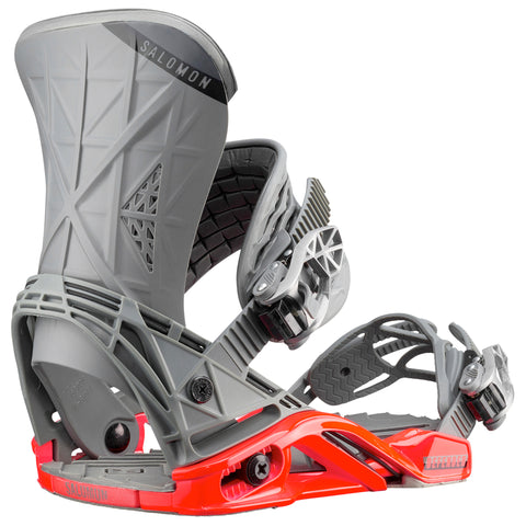 SALOMON DEFENDER SNOWBOARD BINDINGS - GREY RED - 2019 - Boardwise