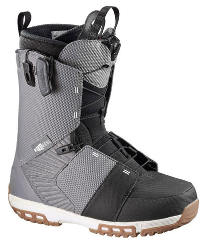 SALOMON DIALOGUE SNOWBOARD BOOTS DETROIT BLACK WHITE - 2017 - Boardwise