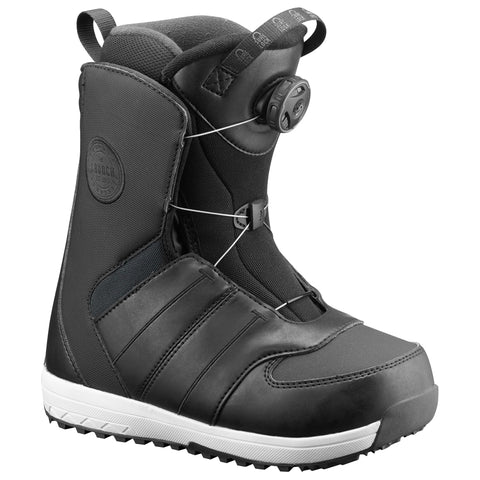 SALOMON KIDS LAUNCH BOA JR SNOWBOARD BOOTS - BLACK - 2019 - Boardwise