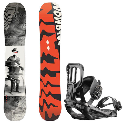 SALOMON KIDS VILLAIN GROM WIDE SNOWBOARD PACKAGE - 2019