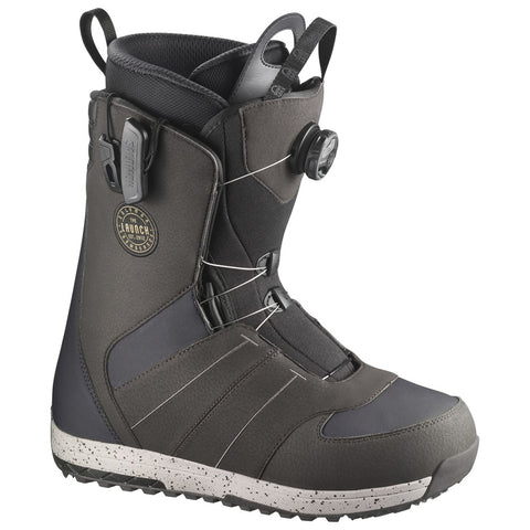 SALOMON LAUNCH BOA SJ SNOWBOARD BOOTS - GREY - 2018 - Boardwise