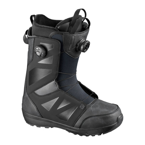SALOMON LAUNCH BOA SJ BOA SNOWBOARD BOOTS - BLACK - 2021