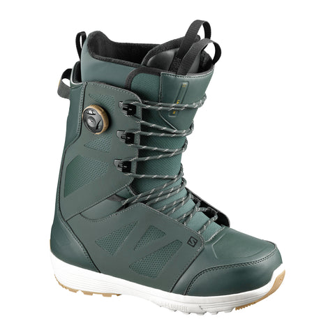 SALOMON LAUNCH LACE BOA SJ SNOWBOARD BOOTS - GREEN - 2021