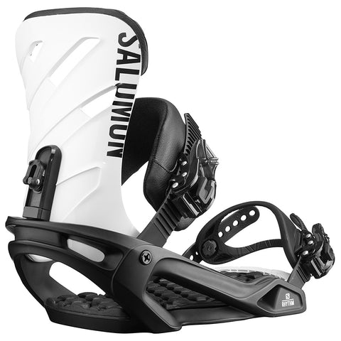 SALOMON RHYTHM SNOWBOARD BINDINGS - BLACK WHITE - 2019