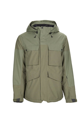 BONFIRE STRUCTURE INSULATED SNOWBOARD JACKET - OLIVE - 2019 - Boardwise