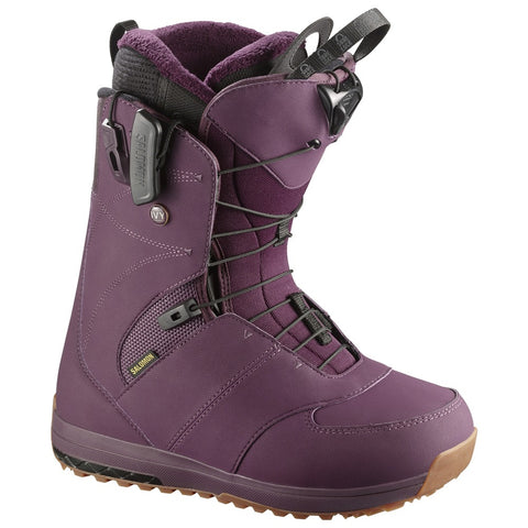 SALOMON WOMENS IVY SNOWBOARD BOOTS - BORDEAUX - 2018 - Boardwise