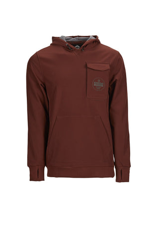 SESSIONS NIGHTHAWK GRAPHIC HOODY - MAROON - 2019 - Boardwise