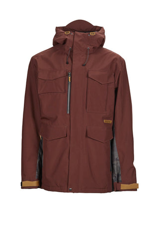 SESSIONS RANSACK INS SNOWBOARD JACKET - MAROON - 2019 - Boardwise