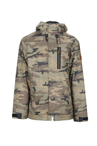 SESSIONS SCOUT SNOWBOARD JACKET - GREEN CAMO - 2019 - Boardwise