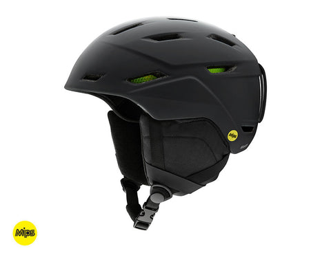 SMITH MISSION MIPS HELMET - MATTE BLACK - 2019 - Boardwise