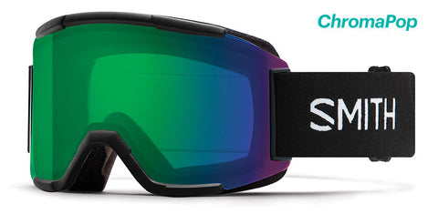 SMITH SQUAD SNOWBOARD GOGGLE - BLACK EVERYDAY GREEN MIRROR - 2019