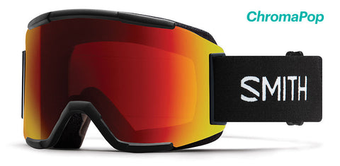 SMITH SQUAD SNOWBOARD GOGGLE - BLACK SUN RED MIRROR - 2019