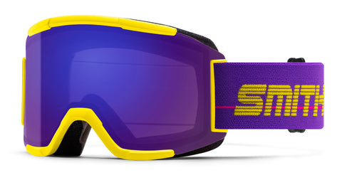 SMITH SQUAD SNOWBOARD GOGGLE - YELLOW 93 EVERYDAY VIOLET - 2020 - Boardwise