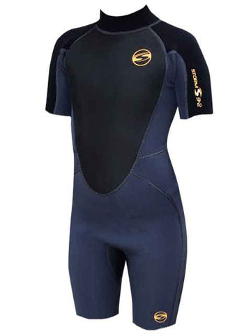 2019 Sola Storm Kids 3/2MM Shorty Wetsuit Graphite Black