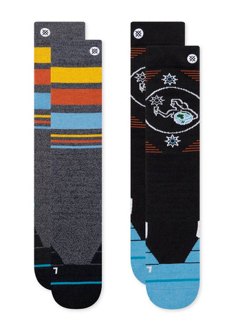 STANCE HERRIDGE 2 PACK SNOWBOARD SOCKS - MULTI - 2021