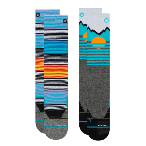 STANCE MENS MOUNTAIN 2 PACK SNOWBOARD SOCKS - 2020