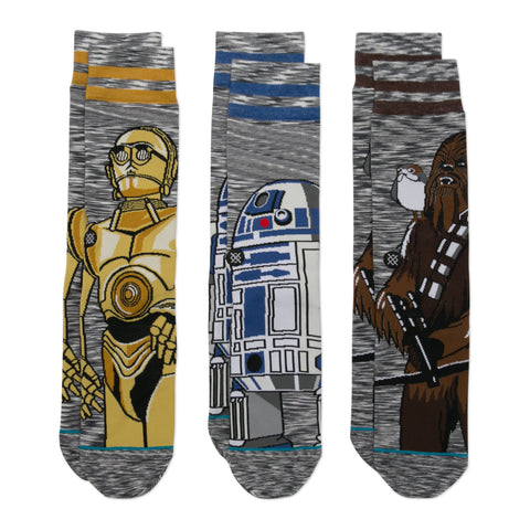 STANCE STAR WARS SIDEKICK 3-PACK SOCKS - 2018