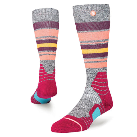 STANCE WOMENS HOT CREEK SNOWBOARD SOCKS - WINE - 2018