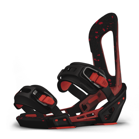 SWITCHBACK EVIL SNOWBOARD BINDINGS - RED BLACK - 2019
