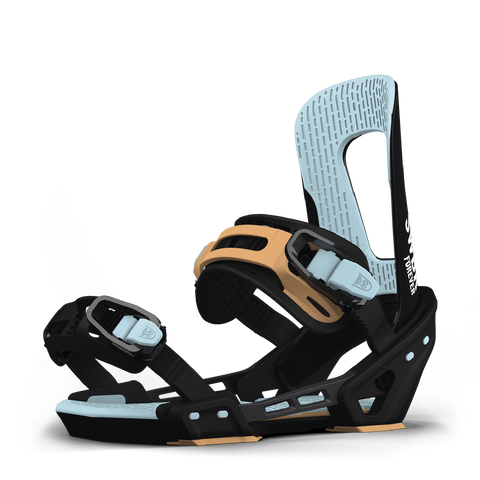 SWITCHBACK FOREVER SNOWBOARD BINDINGS - BLACK BLUE ORANGE - 2019