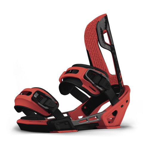 SWITCHBACK HALLDOR PRO SNOWBOARD BINDINGS - BLACK RED - 2019