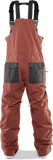 THIRTY-TWO BASEMENT BIB SNOWBOARD PANT - BRICK  - 2020 BACK