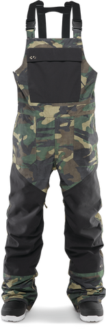 THIRTY-TWO BASEMENT BIB SNOWBOARD PANT - CAMO  - 2020 FRONT
