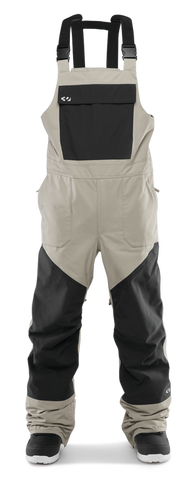 THIRTY-TWO BASEMENT BIB SNOWBOARD PANT - STONE  - 2020 FRONT