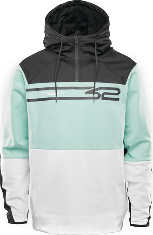 THIRTY-TWO SIGNATURE TECH HOODIE  - WHITE MINT - 2021