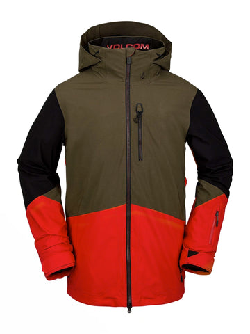 VOLCOM BL STRETCH GORE TEX SNOWBOARD JACKET - RED - 2021