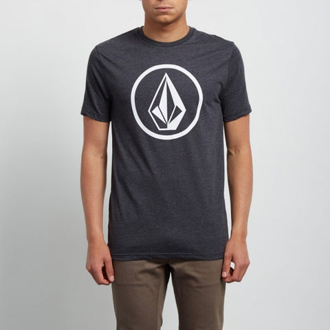 VOLCOM CIRCLE STONE T-SHIRT - HEATHER BLACK - 2018