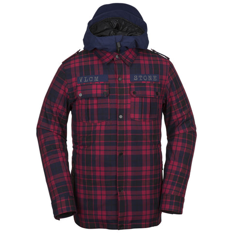 VOLCOM CREEDLE2STONE SNOWBOARD JACKET - RED - 2019 - Boardwise