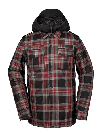VOLCOM CREEDLE2STONE SNOWBOARD JACKET - RED - 2020 - Boardwise