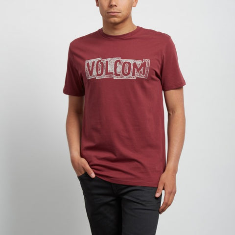 VOLCOM EDGE T-SHIRT - CRIMSON - 2018