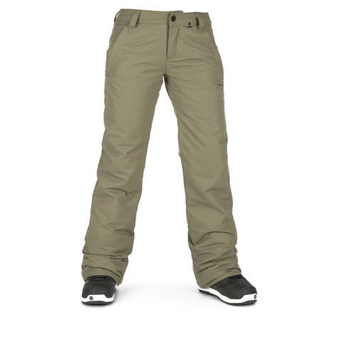VOLCOM WOMENS FROCHICKIE INS SNOWBOARD PANT - MILITARY - 2019
