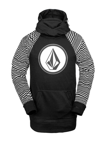 VOLCOM HYDRO RIDING HOODIE - BLACK STRIPE - 2020 - Boardwise