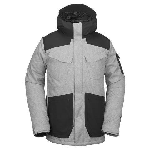 VOLCOM INFERNO INS SNOWBOARD JACKET - HEATHER GREY - 2019
