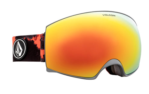 VOLCOM MAGNA SNOWBOARD GOGGLES - SMOKE RED CHROME - 2021
