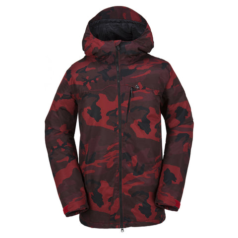 VOLCOM PROSPECT INS SNOWBOARD JACKET - RED - 2018