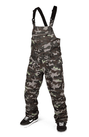 VOLCOM ROAN BIB OVERALL SNOWBOARD PANT - ARMY - 2021