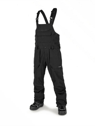 VOLCOM ROAN BIB OVERALL SNOWBOARD PANT - BLACK - 2020 - Boardwise