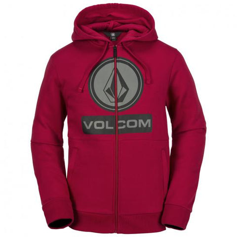 VOLCOM SFD FLEECE - BLOOD RED - 2018
