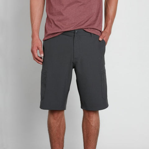 VOLCOM SNT DRY CARGO 21 SHORTS - CHARCOAL HEATHER - 2018