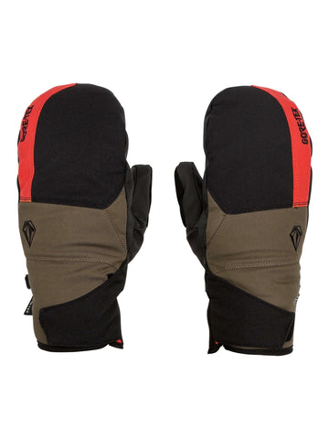 VOLCOM STAY DRY GORE TEX SNOWBOARD MITTS - RED - 2021