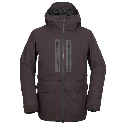 VOLCOM STONE GORE-TEX SNOWBOARD JACKET - BLACK RED - 2019